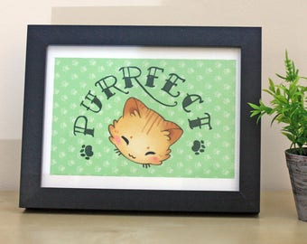 Purrfect A5 Art Print