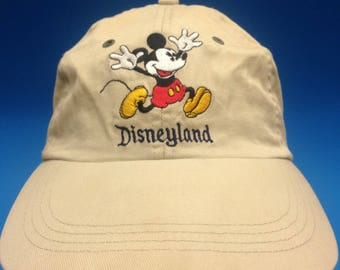 Vintage Walt Disney Strapback hat cap Adjustable khaki