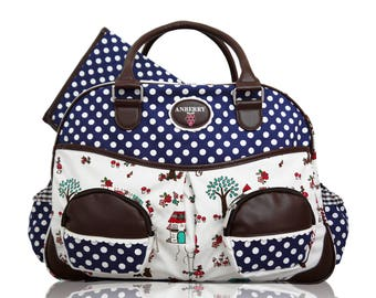 Anberry Red Riding Hood diaper bag in blue / diaper bag in blue