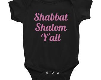 Shabbat Shalom y'all Infant Bodysuit