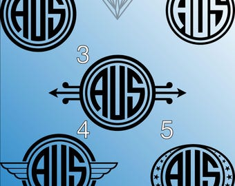 Custom Vinyl monogram, monogram decal set, monogram, ipad monogram decal, cup monogram, car monogram, custom monogram