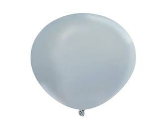 "1 PC 36"" Silver Color Latex Balloons, Party Decor, Party, Party Supplies, Wedding Decor, Balloons, Wedding Supplies, Wedding, Balloon, Decor"
