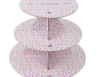 1 PC 3 Tier Polka Dot Disposable Cupcake Display, Cupcake supplies, Cupcake stand, Cupcake display, Cake Display, Cake stand, party supply