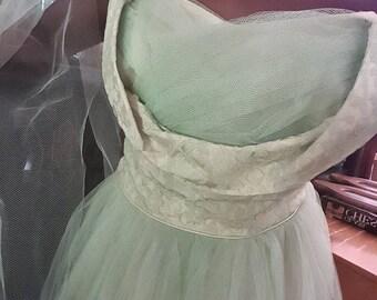 1940s Prom Dress/ Size M