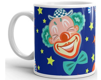 Clown Mug, Clown Coffee Mug, Clown Cup, Clown Coffee Cup, Clown Mugs, Circus Mug, Clown Lover, Clown Gifts, Circus Gifts, Circus Lover