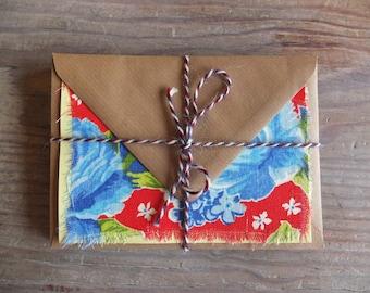 Handmade Greetings Cards with Brazilian Chita Fabric