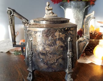 Victorian Silverplate Teapot/Coffee Pot