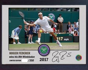 Roger Federer signed autographed The Championships Wimbledon Tennis Memorabilia framed