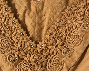 Handmade lace and Rhinestone Dress