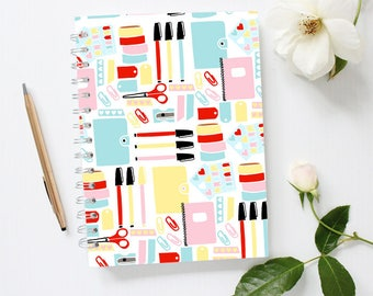 Stationery Notebook, Stationery Addict Notebook, Spiral Notebook, Large Notebook Journal, Lined Journal, Bujo, Bullet Journal, Cute Notebook