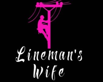 Lineman's wife/ decal/ lineman/ car decal