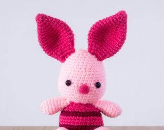 Piglet Plush Doll DIY Crochet Pattern (from Winnie the Pooh)