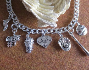 Charm Bracelet for soft ball, especially their mothers