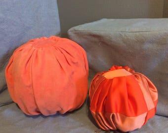 Duchesse Satin quilted stuffed pumpkin-small