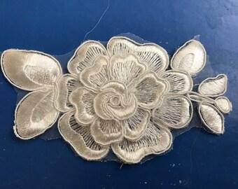 6.5 cm width white lace applique