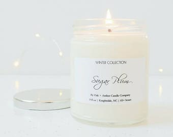 SUGAR PLUM | Holiday Soy Candle | Winter Collection | Christmas Candle | Winter Candle | Christmas Gift | Sugar Plum Fairy | Festive Candle