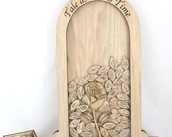 Wedding Guest Book Drop Box, Beauty and the Beast wedding guest book, Wedding Drop Box,Beauty and the Beast wedding theme, Wedding Decor,