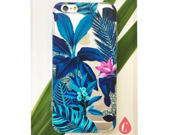 Tropical neon garden transparent - Iphone case 6/6s, 6Plus/6SPlus, 7, & 7Plus
