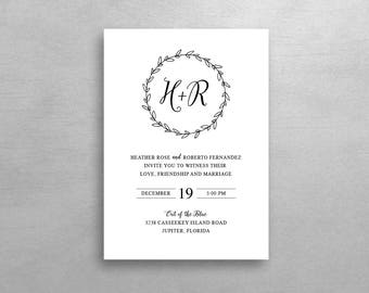 Monogram Invitation & RSVP - Simple Suite - Deposit Listing