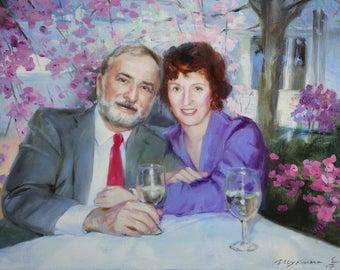 Commission portrait, Commission Oil painting from photo, Custom oil painting, Custom Oil Portrait from photo, Custom portrait on canvas