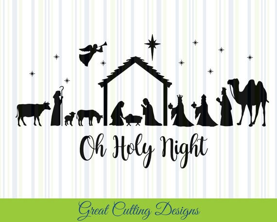 Download Nativity SVG Cut File Christmas svg DXF cut file Cricut svg