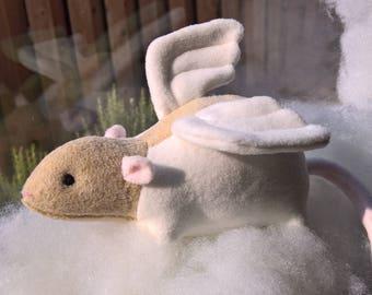 Customizable Angel Rat Stuffed Animal Plush Plushie Toy