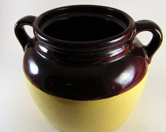 Vintage USA Pottery Bean Pot Crock