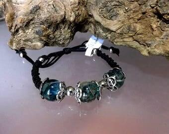 Unique dandelion seed beads bracelet