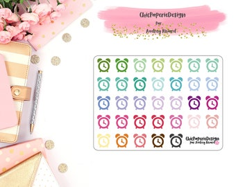 CLOCK STICKER - planner sticker