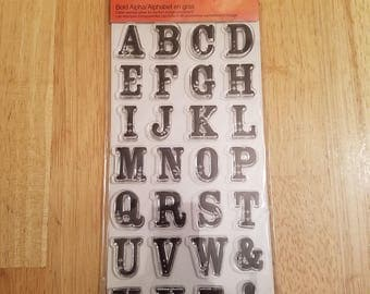 Alphabet Stamps, for journals, scrapbooking, card making