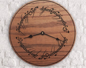 Lord of the Rings - The One Ring Circle Inscription - JRR Tolkien - The Hobbit - Custom Gift