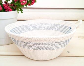 The Country Bowl | Natural cotton rope basket, home decor, functional decor, farmhouse decor, storage basket, fruit bowl, yarn bowl