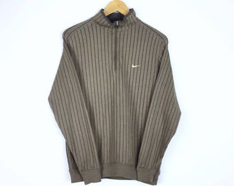 Rare!!! Vintage 90s Nike Sweatshirt Stripes Sweater Small Logo Embroidered Pullover Jumper Sweater