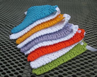 Hand knitted multi coloured bunting