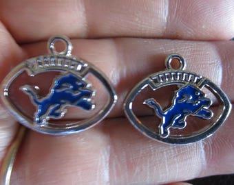 Set of 2 inspired by Detroit Lions Charms