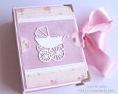 Mini Baby Girl Photo Book, Accordion Mini Photo Album, Baby Brag Book, Shower Fun Baby Album, Baby Shower Gift, Pocket Size Baby Album