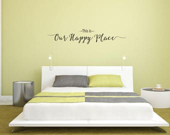 This is Our Happy Place Home and Family Vinyl Wall Decal