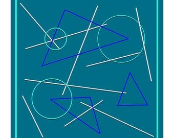 Decorative 20 X 20 graphic illustration poster