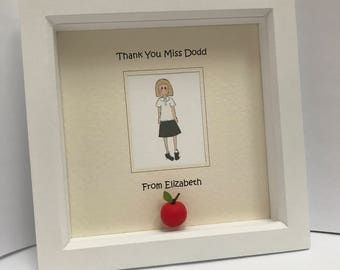 Personalised gift for the teacher/assistant/support worker. Teachers gift. Framed teachers gift.