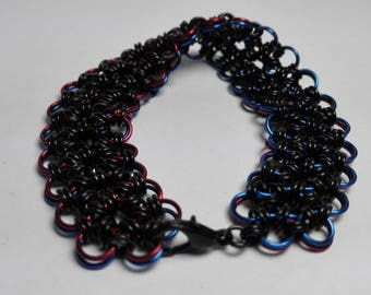 Bracelet Two-Sided Blue/Red