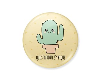 Cactus badge. Who rubs picnic there