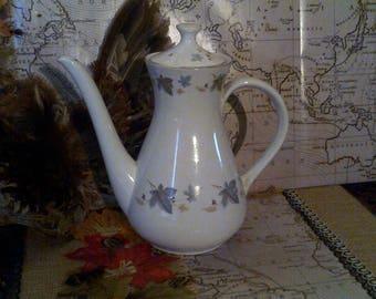 Lovely Stafforshire, Ridgeway, White Mist Coffee/Teapot 1950's/60's Wedding gift idea