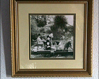 Unique! Ragtime's Raft Race on the River Camb...Vintage print from original Photo/Image