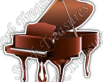 Piano Musical Instrument Music Symphony Car Bumper Vinyl Sticker Decal