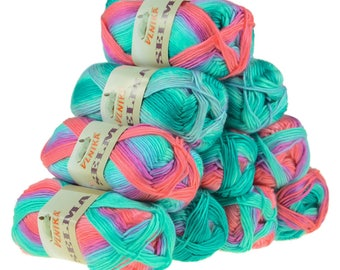 10 x 50 g knitting wool SELMA #06