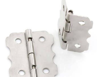 50 hinges, 2 x 2.4 cm, Silver