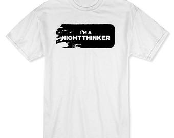 I'm A Nightthinker  Men's White T-shirt
