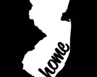 New Jersey NJ Home State Vinyl Decal for Car Laptop Tumbler