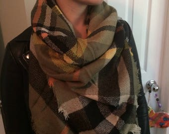 SALE!!!!Most popular selling,Plaid Blanket Scarf, Winter scarf,Cotton triangle Blanket scarf, Plaid Scarf, Tartan scarf, Blanket plaid scarf