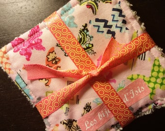 cotton washable wipes organic butterflies